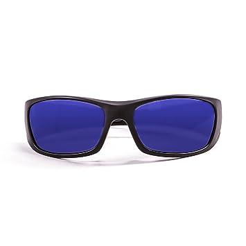 Ocean Sunglasses Bermuda - lunettes de soleil polarisées - Monture : Noir Mat - Verres : Revo Bleu (3401.0) wSVtw