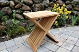 Paradise Teak Wood Folding Shower Seat, Bench, Stool - Bath, Sauna Seating, Brown