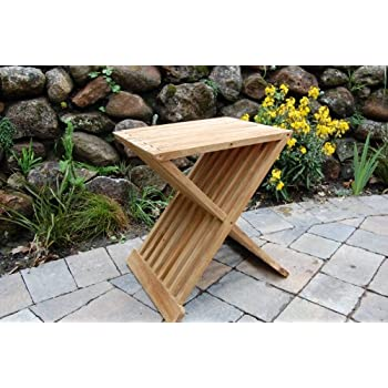 Amazon.com: Teak Wood Folding Shower Seat, Bench, Stool - Bath ...
