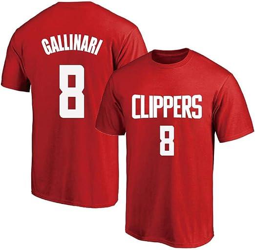 T-shirt NBA Summer Clippers 8 Gallinari Jersey Traje De ...