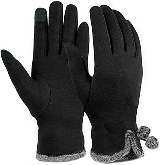 Men Women Winter Warm Touch Screen Full Gloves Thermal Cycling Driving Mittens