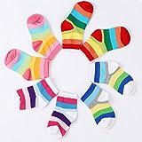 Joylish 5 Pairs Rainbow Socks for 1-5T, Multi Color