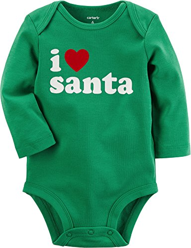 Carter's Baby I Heart Santa Collectible Bodysuit 3 Months