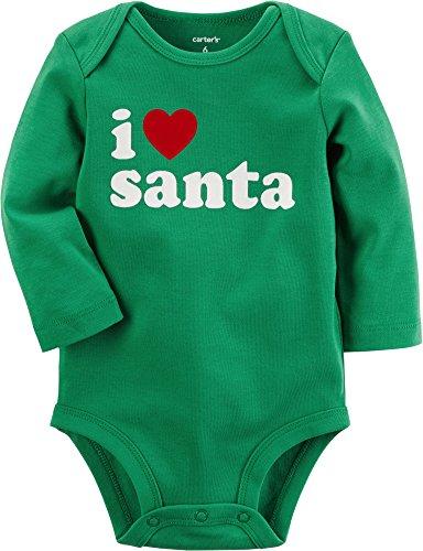 Heart Santa - Carter's Baby I Heart Santa Collectible Bodysuit 3 Months