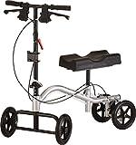 NOVA Medical Knee Walker, Steerable Knee Scooter, Crutch Alternative, Metallic Silver Color