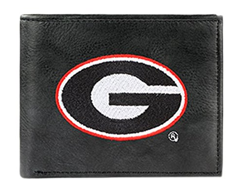 NCAA Georgia Bulldogs Embroidered Leather Billfold Wallet