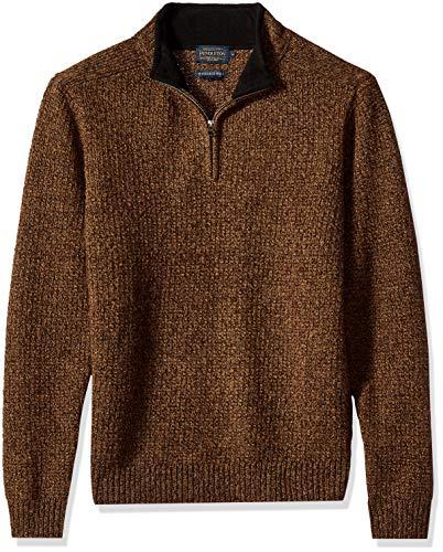 Pendleton Men's Shetland Half-Zip Sweater, Beaver Marl, SM