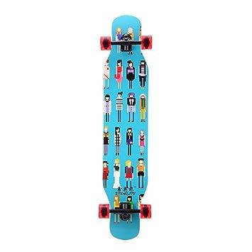 Longboard, Doble Rocker Maple Skate Board Cuatro Ruedas Skateboard Scooter Dancing Board Multifunción Longboard para