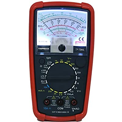 Tekpower TP7244L 7-Function 20-Range Analog Multimeter With Back Light with Strong Protective Holster: Home Improvement