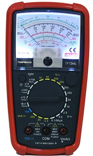 Tekpower TP7244L 7-Function 20-Range Analog Multimeter With Back Light with Strong Protective -