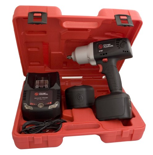 - Chicago Pneumatic CP8748L 1/2-Inch 19.2 Volt Cordless Impact Wrench Kit with Lithium Batteries