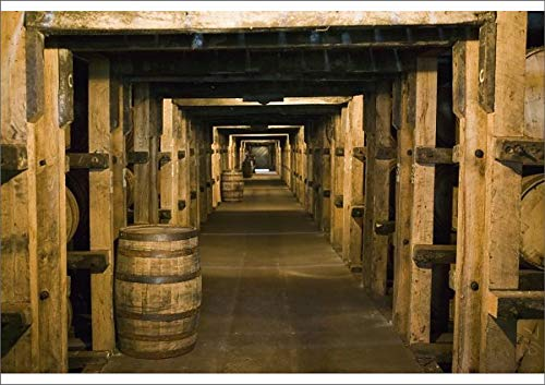 Media Storehouse A1 Poster of USA, Kentucky, Loretto Maker s Mark Bourbon Distillery, Aging Bourbon in (8177055)