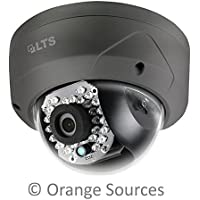 LTS CMIP7442B-28M 4.1MP HD IP Network 2.8mm Wide Angle Lens 30IR 100ft Vandal Proof Dome Camera