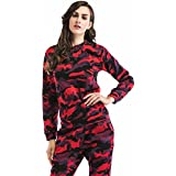 HOT ! Women Sets, Ninasill Exclusive Casual Camouflage Sportswear Two Pieces Set Tops + Long Pants