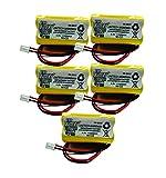 5pc Unitech Ni-CD AA900mAh 4.8V Replacement Battery