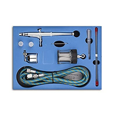 180K Airbrush Kit,Fy-Light Dual Action Air Brush Kit Spray Gun Air Hose with 0.2mm/0.3mm/0.5mm Needle for Complete Set for General-purpose Art-and-craft Projects Tattoo makeup nail Model-railroad
