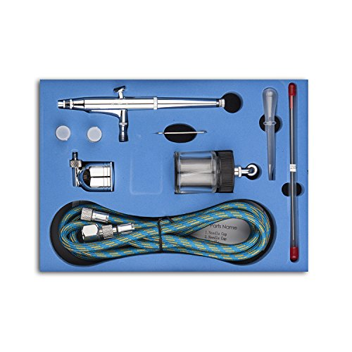 Fy-Light SP134K Professional Dual Action Airbrush Kit 0.2mm/0.3mm/0.5mm Needles 7cc & 22cc Cup Trigger Air Paint Control Airbrush Set for Art Tattoo Nail Makeup Cake Spray Modeling Tool