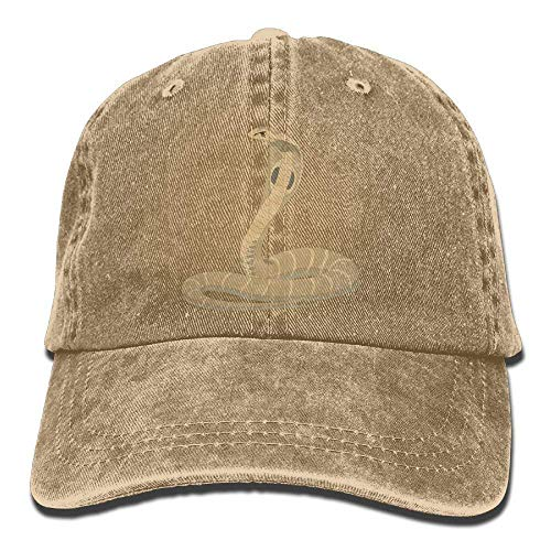 - Denim Baseball Cap King Cobra Snake Summer Hat Adjustable Cotton Sport Caps
