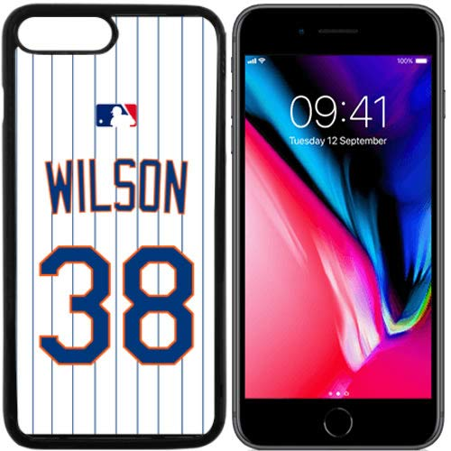 Wilson Home Jersey - iPhone 8, 8 Plus New Case Mets NY Home Jersey Baseball Fashion Grip Anti-Slip Protective Shock Resistant Durable PC TPU by Mr Case (Wilson, iPhone 8)