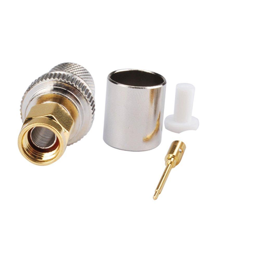 RF Adaptador de conector coaxial SMA Plug Crimp para LMR400 cable: Amazon.es: Electrónica