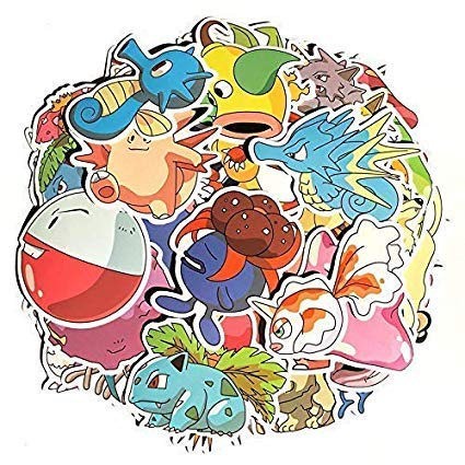Price comparison product image Cartoon Stickers[80pcs],  Anime Vinyl Sticker for Nintendo Switch Laptop Water Bottle Bike Car Motorcycle Bumper Luggage Skateboard Graffiti,  Cute Animals Monsters Decals,  Best Gift for Kids Children.