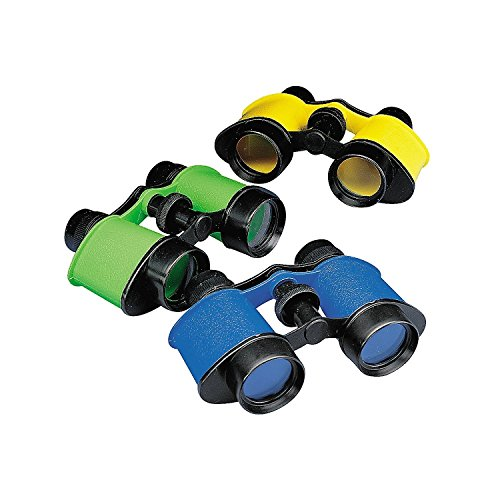 Fun Central 12 Pack - Toy Binocular for Kids Party Favors, Novelty Binoculars for Birdwatching and Outdoors- Assorted Colors]()