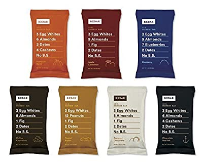 RxBar Real Food Protein Bars Variety Pack, 7 Flavors by RXBAR
