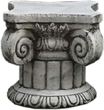 zenggp Columna Estriada De Piedra Romana Adorno De Jardín Interior Y Exterior Pesado Pantalla Base De Olla,G+Height26cm: Amazon.es: Hogar