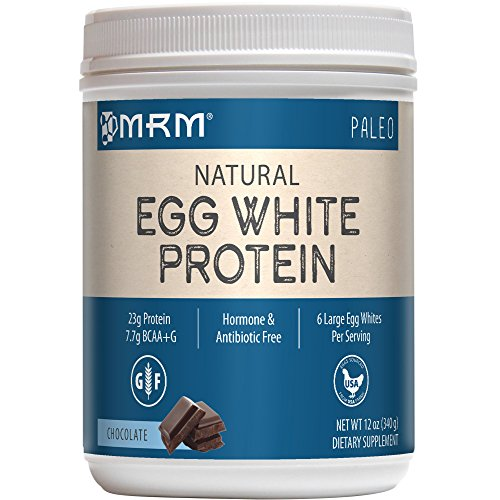 MRM - Egg White Protein, Dairy-Free Protein Powder with Essential Amino Acids Dietary Supplement, Lean Muscle Strength & Recovery, No Fats or Carbs (Chocolate, 12 Ounces)