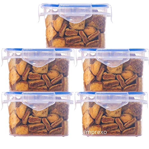 Imprexo Airtight Plastic Dry Fruits Grocery Food Storage Containers and Jars, 1500ML  5, 1500 ML