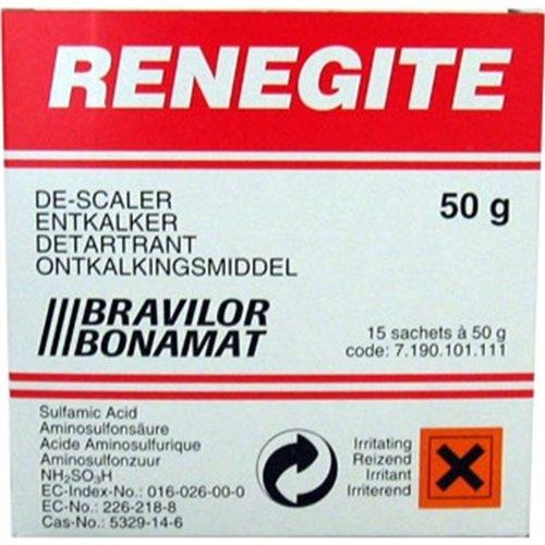 AUK Renegite Kettle Descale Sachet, 50 g, Pack of 15 BB026-50
