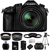 Panasonic Lumix DMC-FZ1000 4K QFHD/HD 16X Long Zoom Digital Camera (Black) + 32GB Bundle 12PC Accessory Kit.