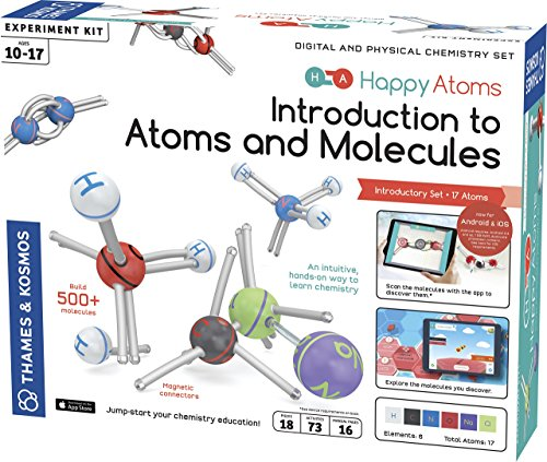 Thames & Kosmos Happy Atoms Magnetic Molecular Modeling Set And Introductory Set
