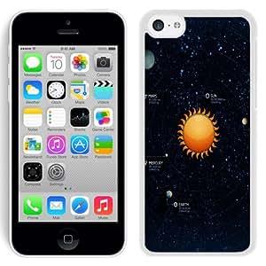 Beautiful Unique Designed iPhone 5C Phone Case With Solar System Illustration_White Phone Case