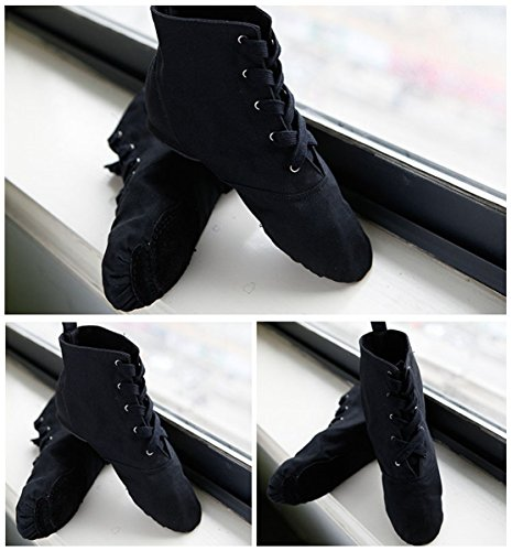 boots and shoes shoes jazz Wxmddn bottom Black high dance shoes jazz canvas practice indoor women adult Dance men soft shoes band 6Tq5z