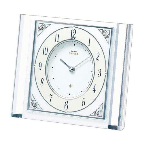 セイコー クロック/SEIKO CLOCK EMBLEM 置時計 (HW565W) B00D2YQW2Q