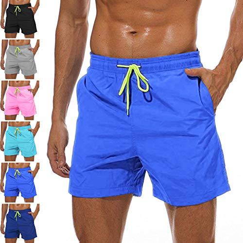 Lncropo Men's Swim Trunks Quick Dry Swim Shorts with Mesh Lining Swimwear Bathing Suits (D-Blue, 4XL) (Best Friend Bathing Suits)