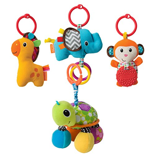 Infantino Tag Along Travel Pals with Topsy Turtle Mirror