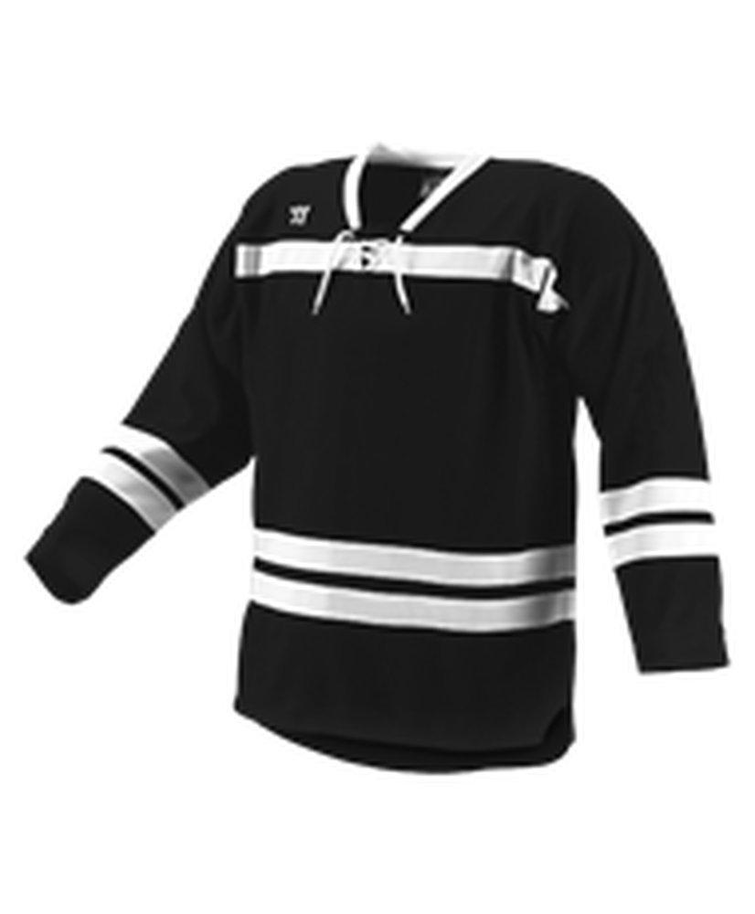 Alleson Athletic SHIRT メンズ B0743C9N4B 3X|Black, White, White Black, White, White 3X