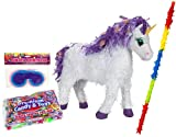 Premium Unicorn Pinata Kit – Includes Pinata, 2Lb Filler, Buster Stick and Blindfold, Health Care Stuffs