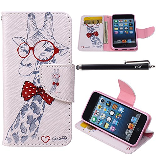 Wallet Case For Apple iPod touch 5/6 (Pink) - 1