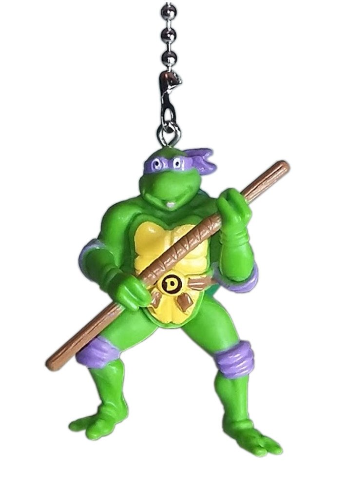 TMNT Teenage Mutant Ninja Turtles Ceiling Fan Pulls by Wooden Androyd Studio (Donatello Purple)