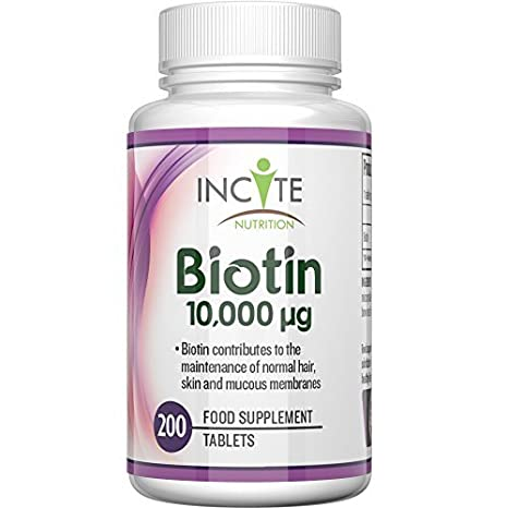 Vitamines de biotine pour la croissance des cheveux 10000 MCG 6 mois +  fournissant 200 comprimés de70485d12b2