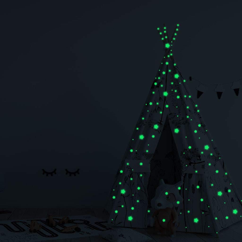 Lumineux 3D /Étoiles et Lune Autocollants Brille Dans le Noir Fluorescents Autocollants Pour d/écoration Maison Enfants Chambre Autocollants Lumineux Wall Sticker Lumineuses Stickers /Étoiles WINJIN