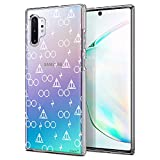 Unov Galaxy Note 10 Plus Case Clear with Design Soft TPU Shock Absorption Slim Protective Galaxy Note 10 Plus/Note 10 Plus 5G Case Embossed Pattern (Death Hallows)