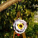 #8: Hanging Bird House Outdoor Garden Patio Decorative Resin Pet Cottage Resin Birdhouse by CEDAR HOME, Purple