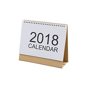 2018 calendar simple style white desk calendar schedule durable practicability 255 205 cm