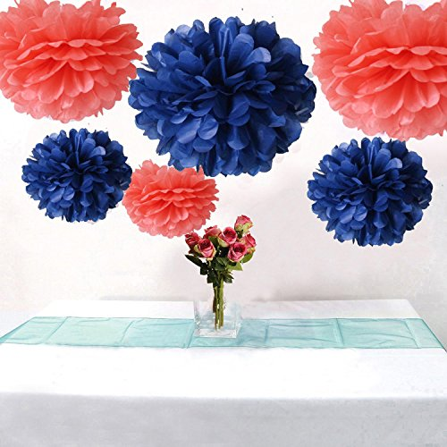 blue and coral decor - 7