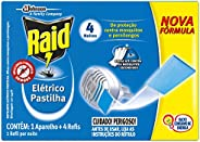 Repelente Elétrico Raid Pastilha com 1 aparelho + 4 refis