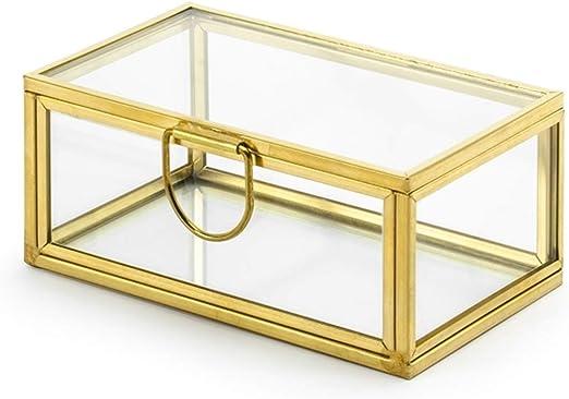 Partydeco - Caja para Anillos (Cristal), Color Dorado: Amazon.es: Juguetes y juegos